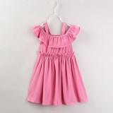 Mommy and Me Pink Off The Shoulder Slip Dresses