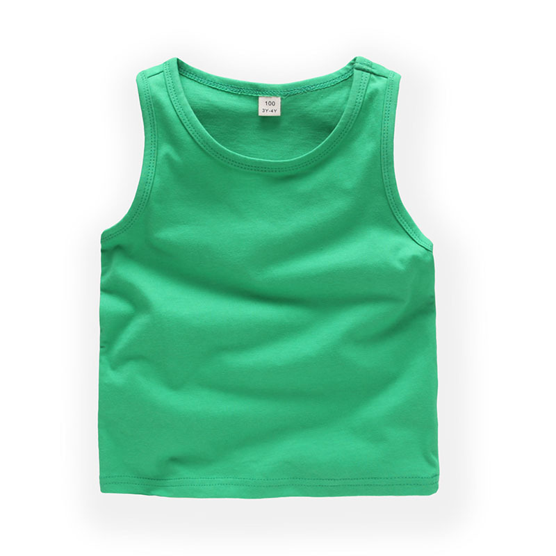 Boys Pure Color Tank Vest