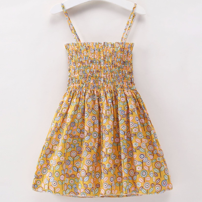 Girls Print Flowers Slip Dress
