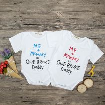 Baby Girl White Slogan Bodysuit