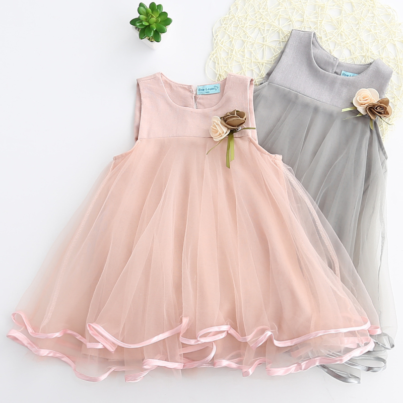 Girls Layers Tutu Party Sleeveless Dress