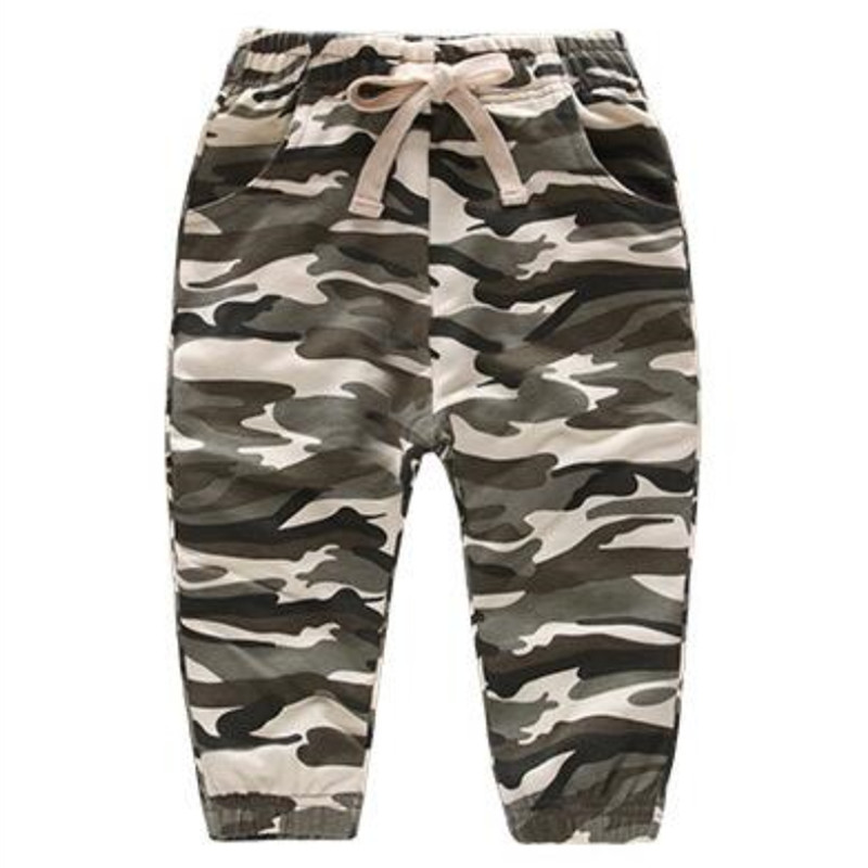 Boys Prints Camouflage Color Pant Bottoms