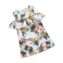 Girls Prints Pineapple Ruffles Dress