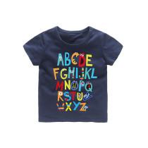 Boys Colorful 26 Letters A-Z Prints T-shirts