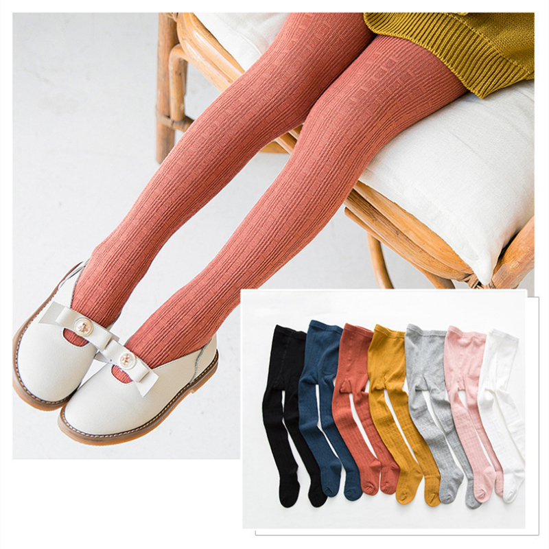 Baby Toddler Girls Tights Plaids Pantyhose Cotton Warm Leggings Stockings