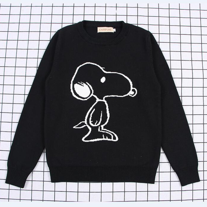 Toddler Boy and Girl Knit Pullover Cute SNOOPY Cartoon Sweater