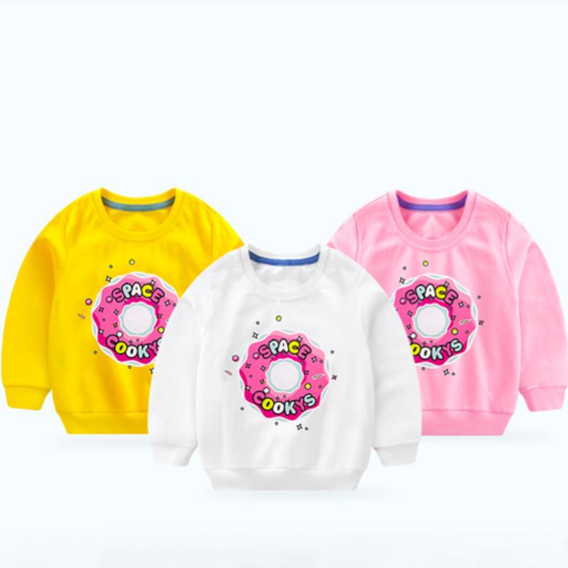 Toddler Girl Print Doughnut Long Sleeve Sweatshirt