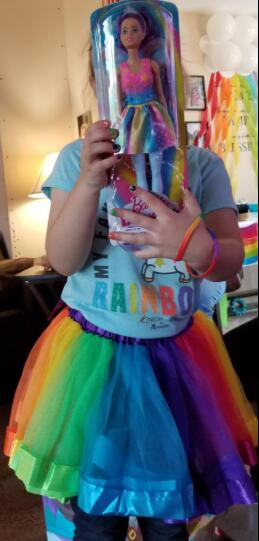 ea8d394e91 Toddler Girl Rainbow Layered Tulle Tutu Skirt Add Free Bow Clip