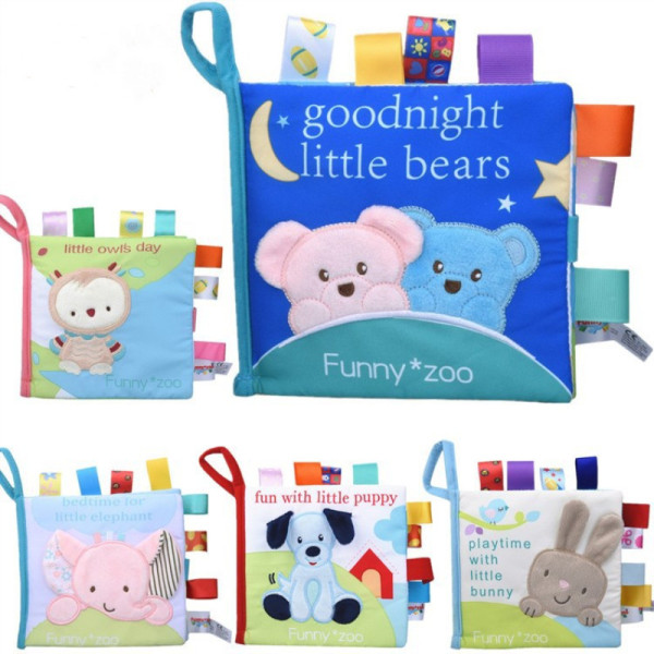 Baby's First Story Cloth Book Cute Animals