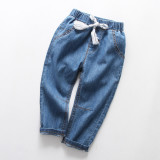 Boys Casual Lightweight Denim Jeans With Rope Tape