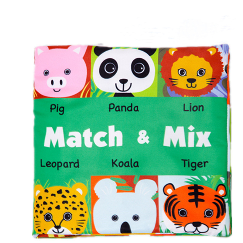 Baby's First Cloth Book Learn Animals Match & Mix