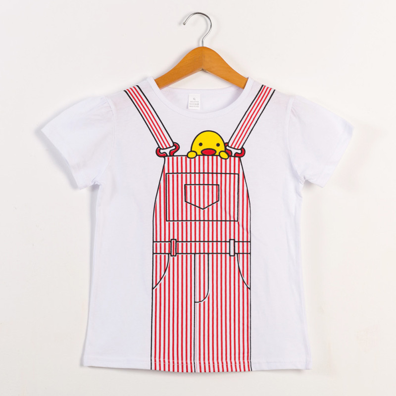 Girls Print Overall Yellow Duck T-Shirts
