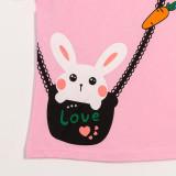 Girls Print Rabbit T-Shirts