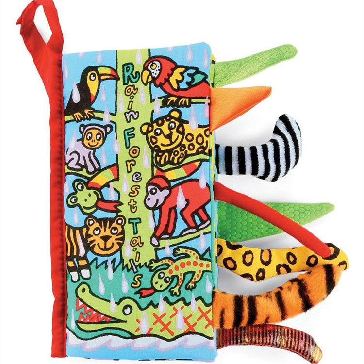 Baby's First 3D Rain Forest Animals' Tails Cloth Book