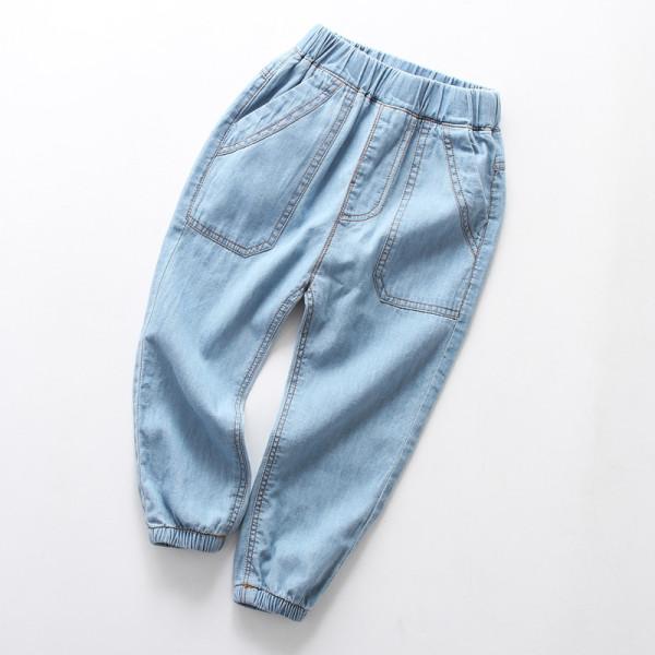 Boys Casual Lightweight Denim Jeans With Rubber Waist