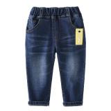 Boys Denim Jeans With Rubber Waist