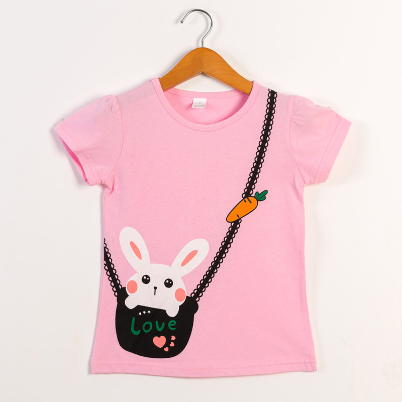 Girls Print Rabbit T-Shirts
