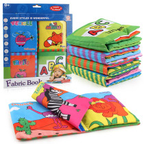 Baby's First Touch and Feel Soft Learning Cloth Book Set 4 Packs