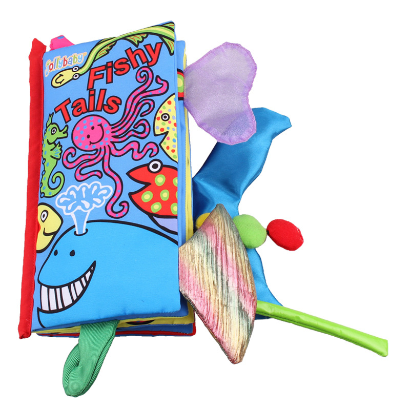 Baby's First 3D Fishy Animals' Tails Cloth Book