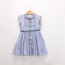 Girl Blue Shirt Sleeveless Dress
