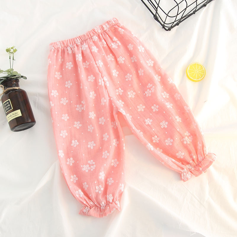 Girls Print Lightweight Bloomers Ruffles Pants for Summer