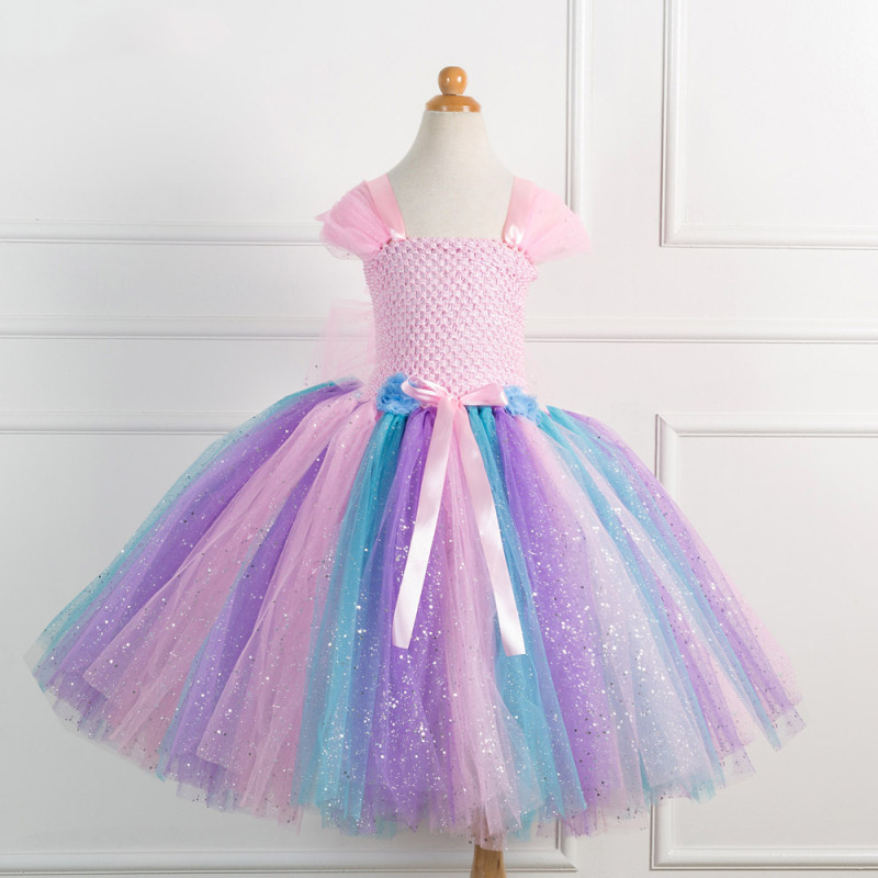 Girl Pink Crocheted Princess Tutu Dress