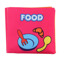 Baby's First Touch and Feel Soft Cloth Book Learn Foods