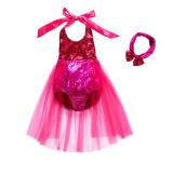 Kid Girls Sequins Tutu Bikini Swimsuit