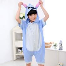 Kids Stitch Summer Short Onesie Kigurumi Pajamas for Unisex Children