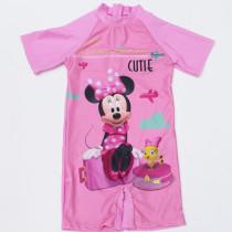 Kid Girl Prints Mini Pink Swimsuit