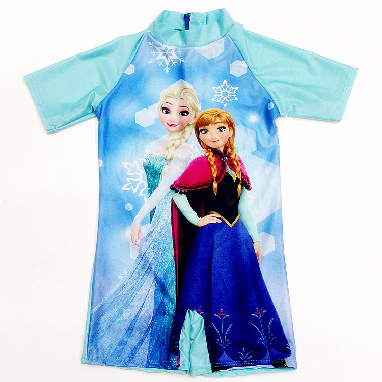 Kid Girl Frozen Cartoon Princess Swimsuit