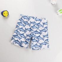 Kid Boys Print Sharks Swimwear Trunks Swim Boxer Shorts