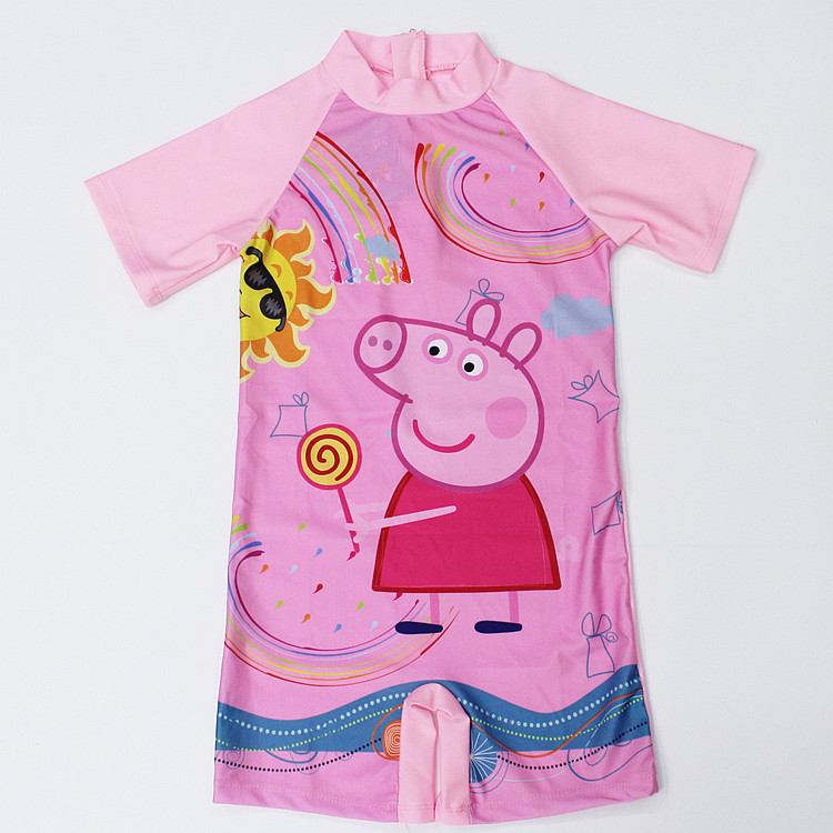 Kid Girl Pink Peppa Pig Swimsuit