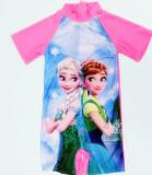Kid Girl Frozen Cartoon Princess Swimsuit
