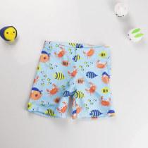 Kid Boys Print Fish Swimwear Trunks Swim Boxer Shorts