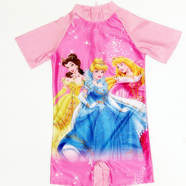 Kid Girl Cartoon Princess Swimsuit