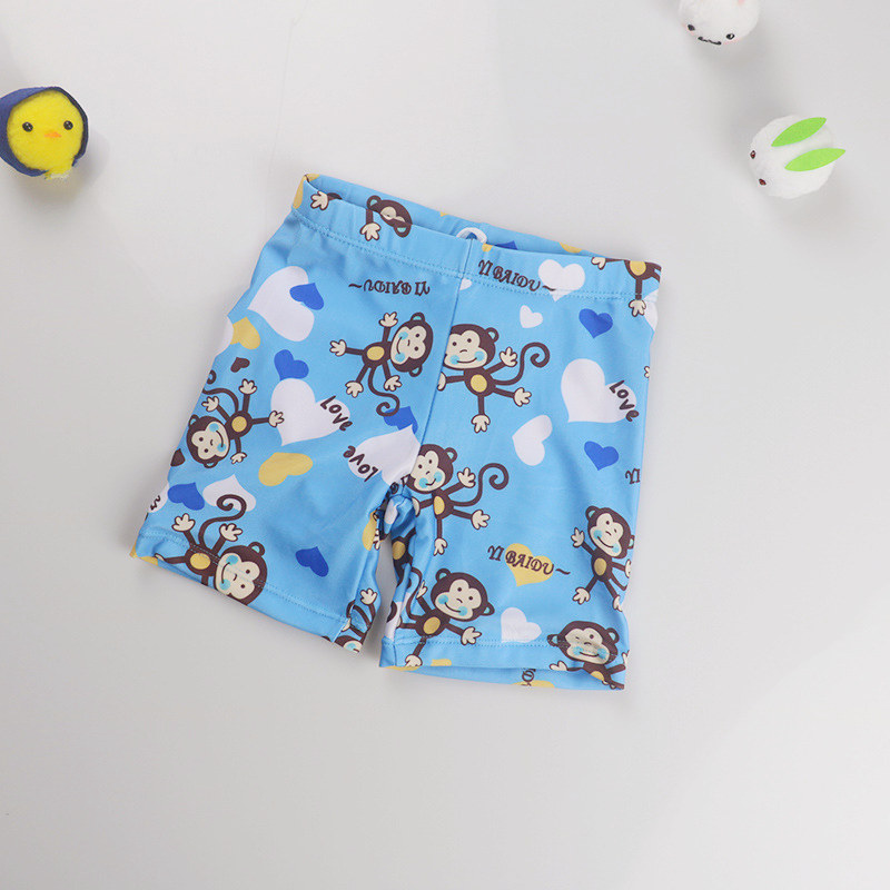 Kid Boys Print Monkey  Swimwear Trunks Swim Boxer Shorts