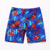 Kid Boys Print Spiderman Swimwear Trunks Swim Boxer Shorts