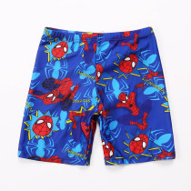 Kid Boys Print Spiderman Swimwear Trunks Swim Boxer Shorts