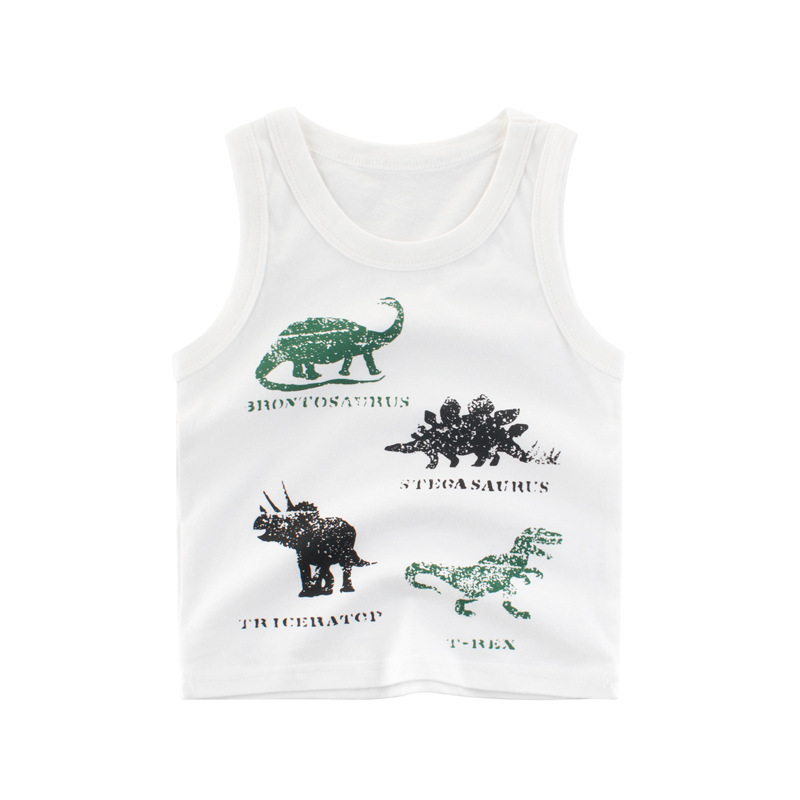Boys Print Dinosaurs Vest Tank