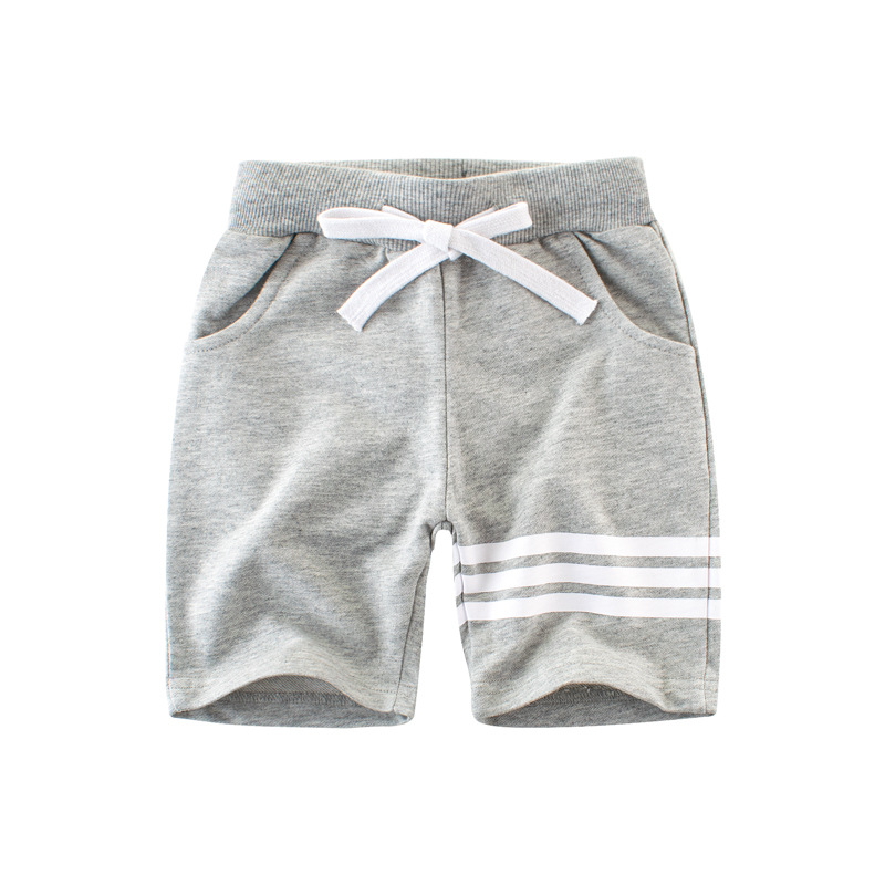 Boys Stripes Cotton Shorts