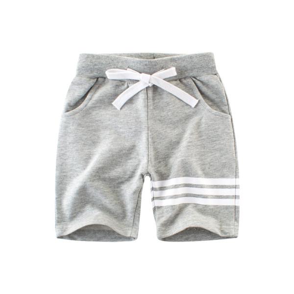 Boys Stripes Cotton Shorts