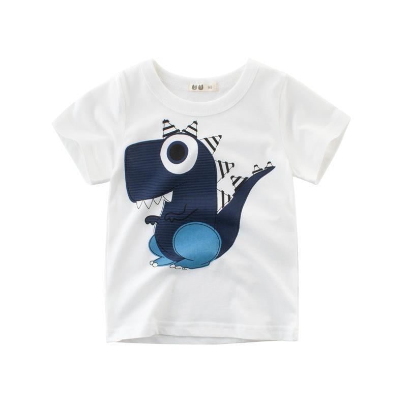 Boys Print Cartoon Dinosaur T-shirt