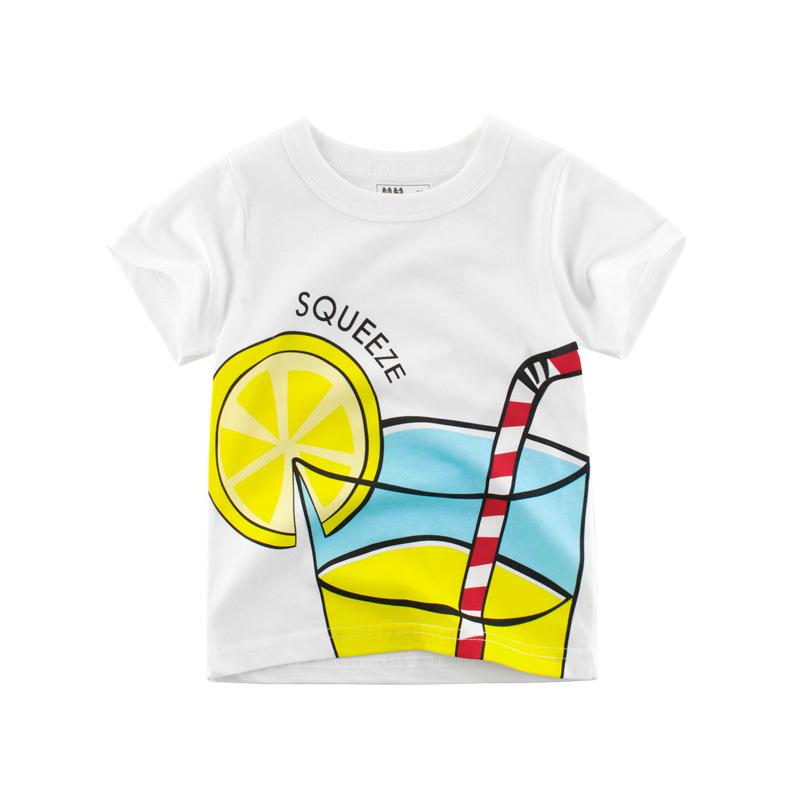 Boys Print Lemon Juice T-shirt