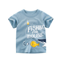 Boys Print Fishing Trouble T-shirt