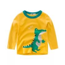Boys Print Crocodile Long Sleeves T-shirt