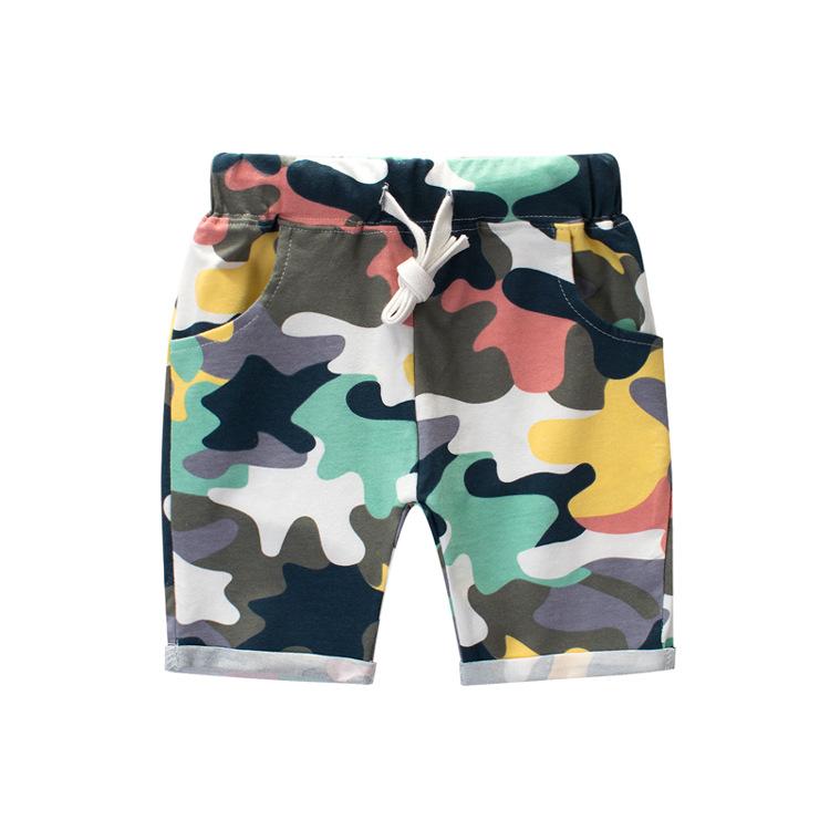 Boys Camouflage Cotton Shorts