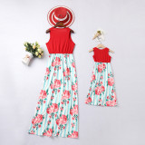 Mommy and Me Flowers Family Matching Maxi Dresses