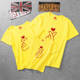 Matching Family Prints Finger Heart T-shirts