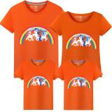 Matching Family Prints Rainbow Pony Famliy T-shirts
